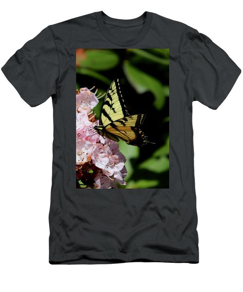 Swallow Tail On Mountain Laurel Men's T-Shirt (Athletic Fit)