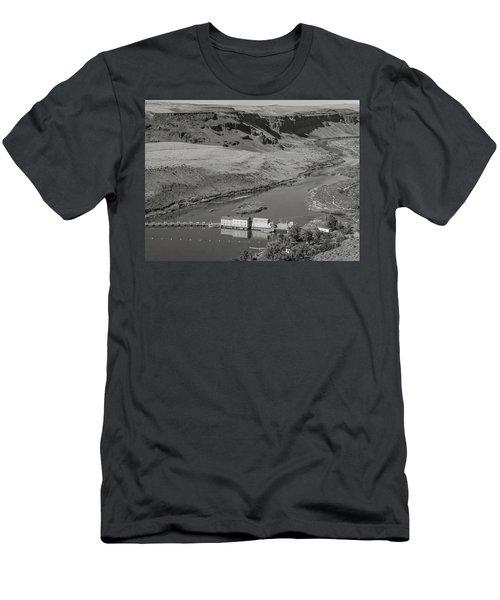 Swan Falls Dam Men's T-Shirt (Athletic Fit)