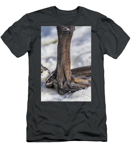 Men's T-Shirt (Slim Fit) featuring the photograph Swan Leg by Paul Freidlund