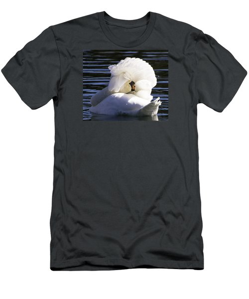 Men's T-Shirt (Slim Fit) featuring the photograph Swan Prince by Cathy Donohoue
