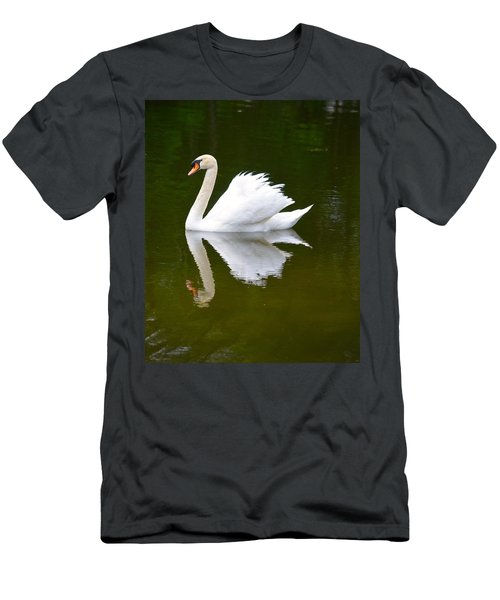 Swan Reflecting Men's T-Shirt (Athletic Fit)