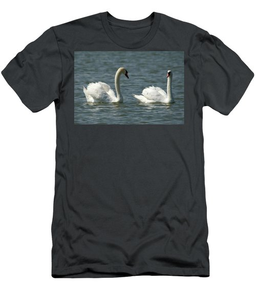 Swans On Lake  Men's T-Shirt (Athletic Fit)