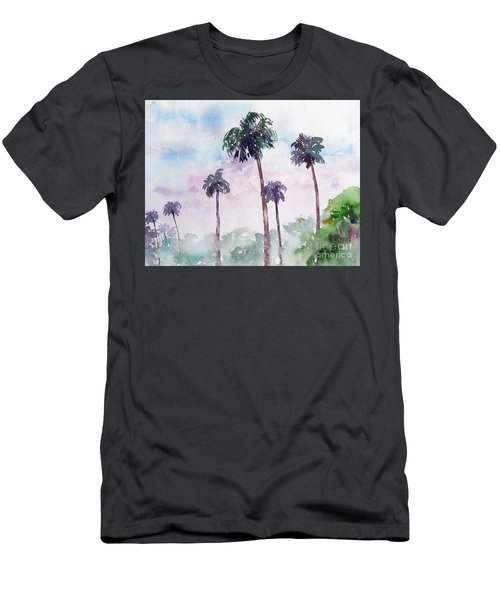 Swaying Palms Men's T-Shirt (Athletic Fit)