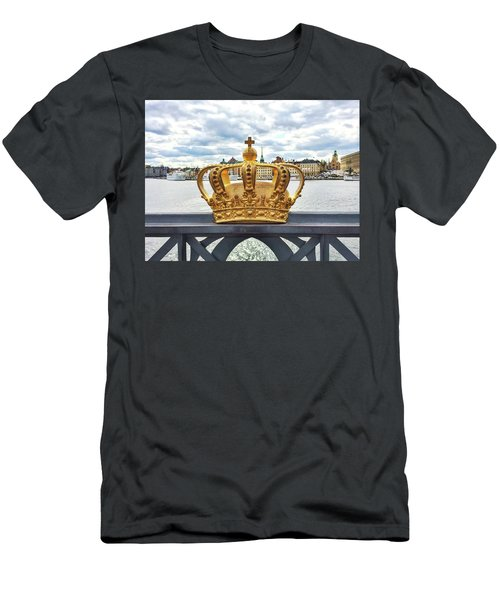 Swedish Royal Crown On A Bridge In Stockholm Men's T-Shirt (Slim Fit) by GoodMood Art
