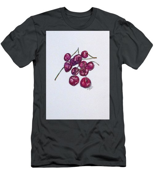 Men's T-Shirt (Athletic Fit) featuring the painting Sweet Cherry by Clyde J Kell