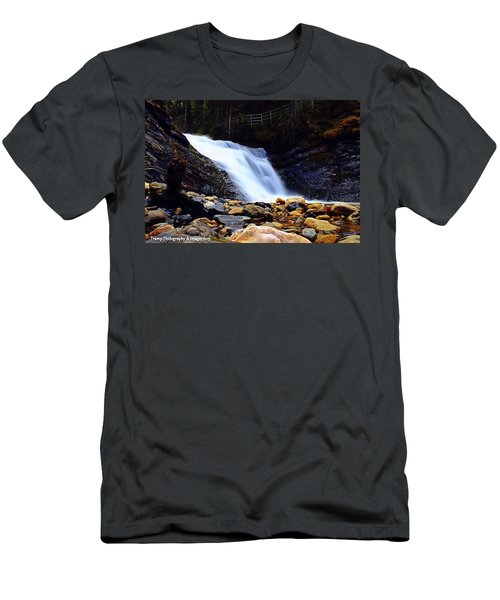 Sweet Creek Falls , Wa Men's T-Shirt (Athletic Fit)