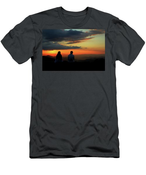 Men's T-Shirt (Slim Fit) featuring the photograph Sweetheart Sunset by Jessica Brawley