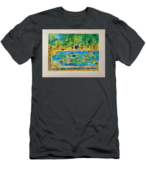 Swimming With Waterlilies And Fish Men's T-Shirt (Athletic Fit)