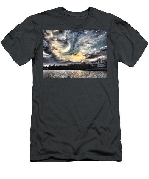 Swirl Sky Sunset Men's T-Shirt (Athletic Fit)