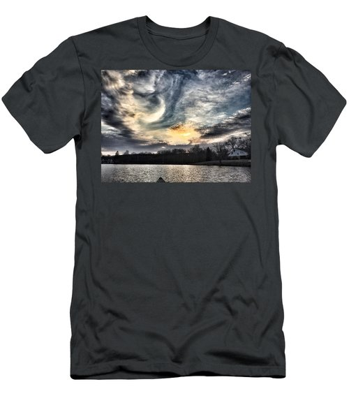 Swirl Sky Sunset Men's T-Shirt (Athletic Fit)