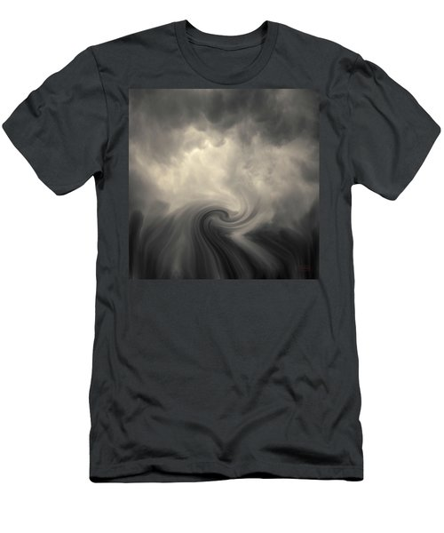 Men's T-Shirt (Athletic Fit) featuring the photograph Swirl Wave Vi Toned by David Gordon