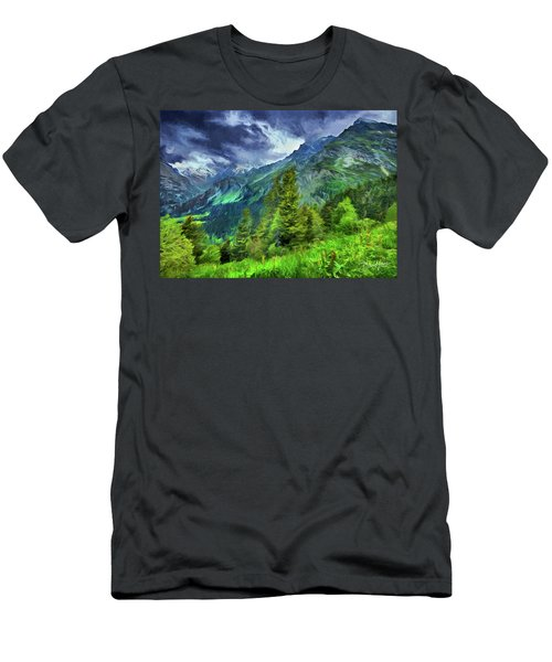 Swiss Countryside Men's T-Shirt (Athletic Fit)