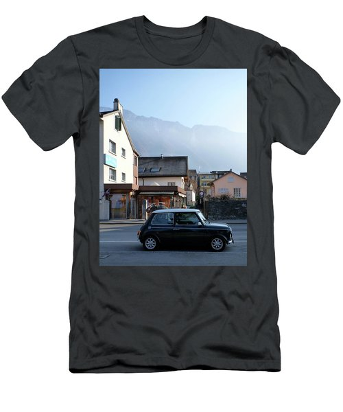 Men's T-Shirt (Slim Fit) featuring the photograph Swiss Mini by Christin Brodie