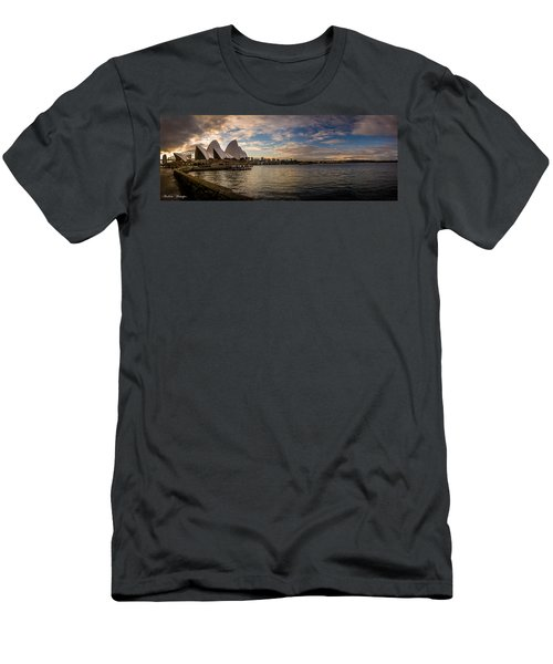 Men's T-Shirt (Slim Fit) featuring the photograph Sydney Harbor by Andrew Matwijec
