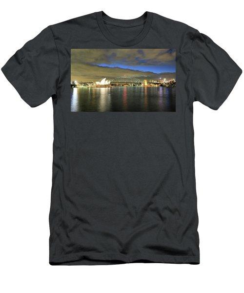 Sydney Harbor At Blue Hour Men's T-Shirt (Athletic Fit)