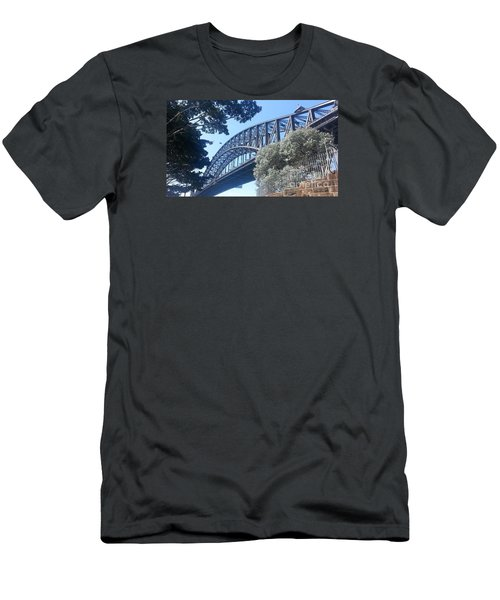 Men's T-Shirt (Slim Fit) featuring the photograph Sydney Harbor Bridge by Bev Conover