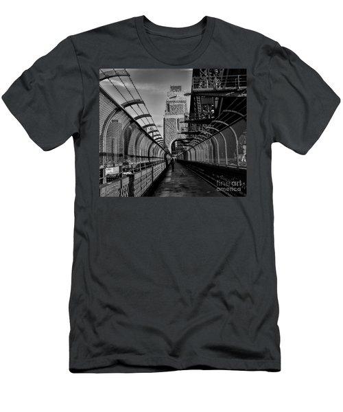 Sydney Harbor Bridge Bw Men's T-Shirt (Athletic Fit)