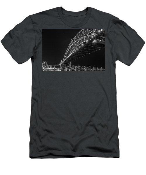 Sydney Harbour Bridge At Night Men's T-Shirt (Athletic Fit)