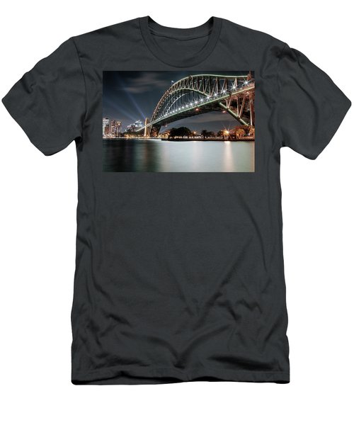 Sydney Harbour Lights Men's T-Shirt (Athletic Fit)
