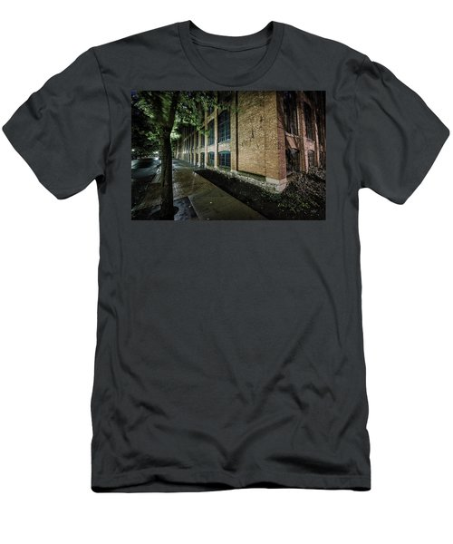 Men's T-Shirt (Slim Fit) featuring the photograph Syracuse Sidewalks by Everet Regal
