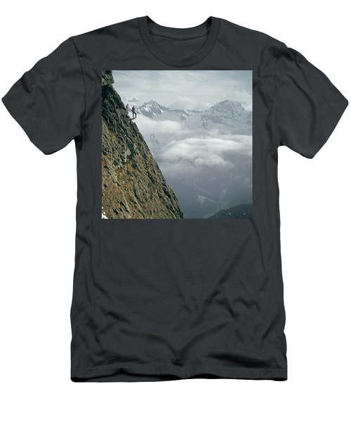 T-404101 Climbers On Sleese Mountain Men's T-Shirt (Athletic Fit)