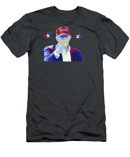 T R U M P Donald Trump Men's T-Shirt (Slim Fit) by Mr Freedom