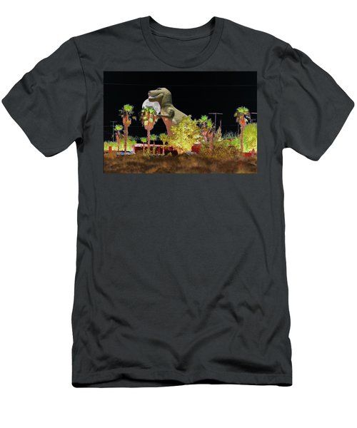 T-rex In The Desert Night Men's T-Shirt (Athletic Fit)