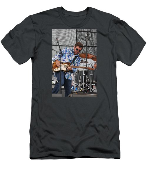 Tab Benoit Plays His 1972 Fender Telecaster Thinline Guitar Men's T-Shirt (Athletic Fit)