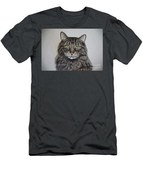 Tabby-lil' Bit Men's T-Shirt (Slim Fit) by Megan Cohen
