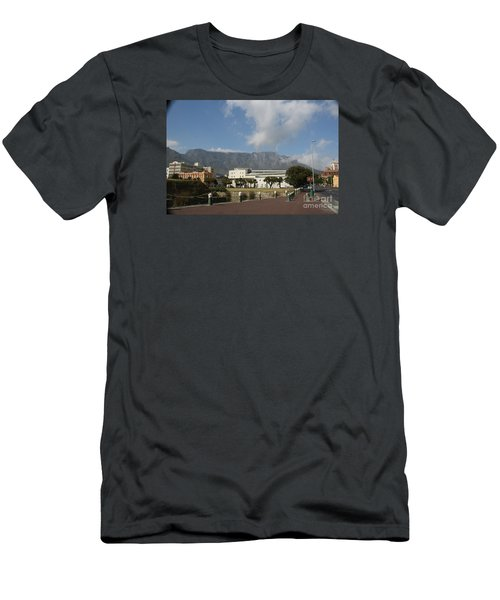 Table Mountain, Capetown Men's T-Shirt (Slim Fit) by Bev Conover