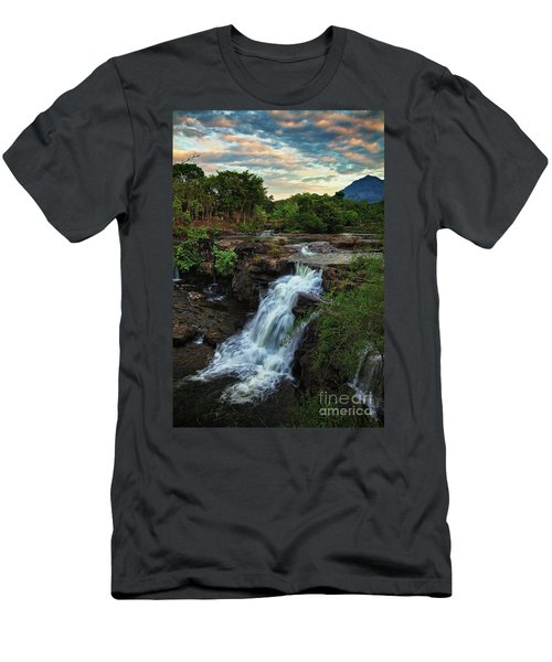 Tad Lo Waterfall, Bolaven Plateau, Champasak Province, Laos Men's T-Shirt (Athletic Fit)