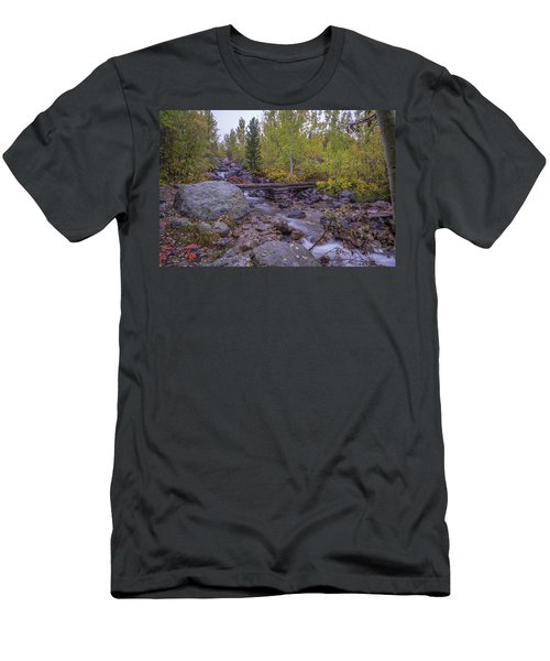 Taggert Creek Waterfall Men's T-Shirt (Athletic Fit)