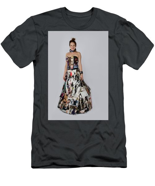 Megan In Gown Men's T-Shirt (Athletic Fit)