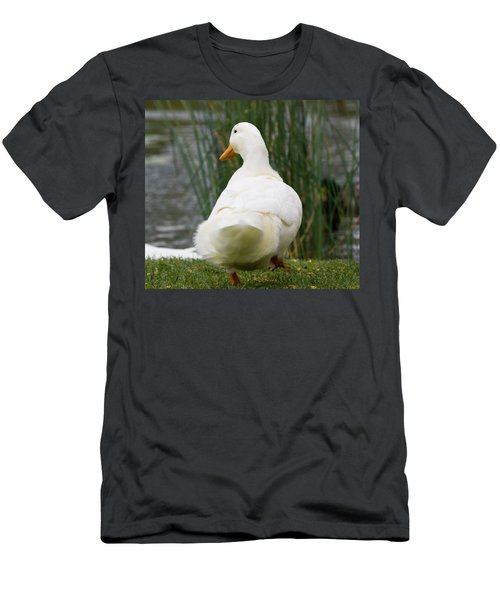 Men's T-Shirt (Slim Fit) featuring the photograph Tale Feathers by Tara Lynn