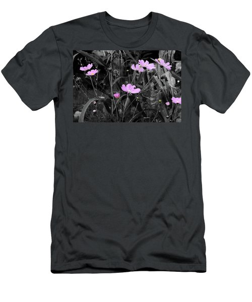 Tall Pink Poppies Men's T-Shirt (Athletic Fit)