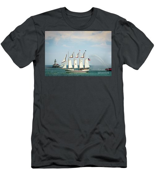 Tall Ship Men's T-Shirt (Athletic Fit)