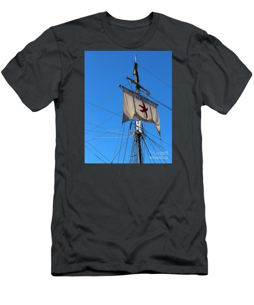 Tall Ship Mast Men's T-Shirt (Athletic Fit)