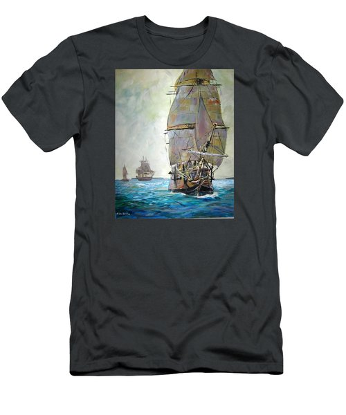 Tall Ships 2 Men's T-Shirt (Athletic Fit)
