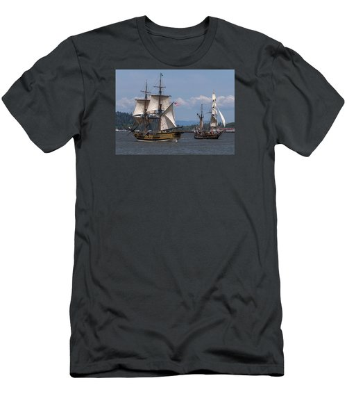 Tall Ships Square Off Men's T-Shirt (Athletic Fit)