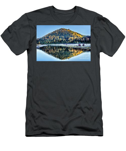 Tamarack Glow Idaho Landscape Art By Kaylyn Franks Men's T-Shirt (Athletic Fit)