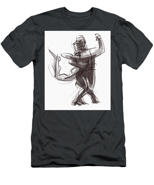 Men's T-Shirt (Athletic Fit) featuring the painting Tango #25 by Judith Kunzle