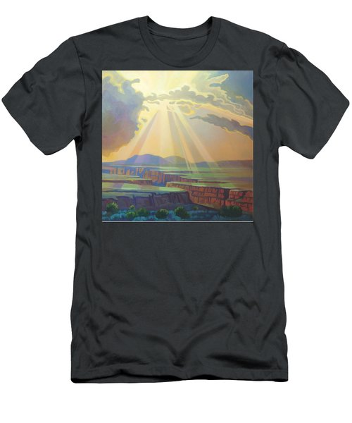 Taos Gorge God Rays Men's T-Shirt (Athletic Fit)