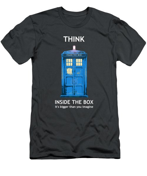 Tardis - Think Inside The Box Men's T-Shirt (Athletic Fit)