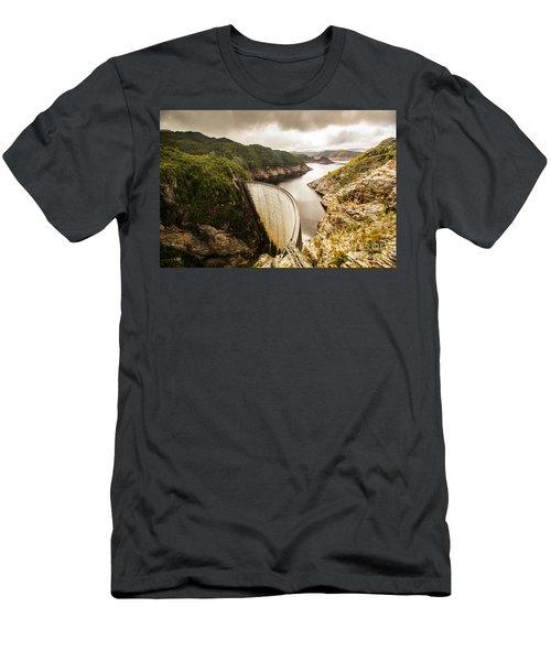 Tasmania Hydropower Dam Men's T-Shirt (Athletic Fit)