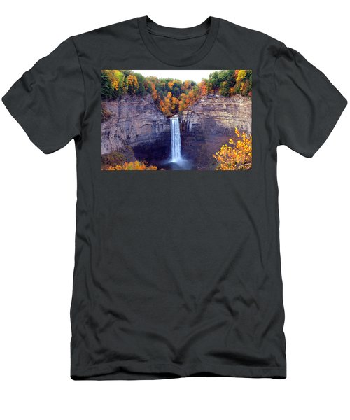 Taughannock Waterfalls In Autumn Men's T-Shirt (Athletic Fit)