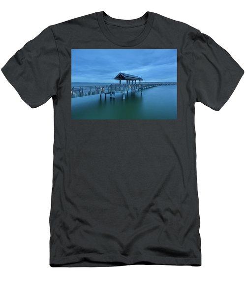 Taylor Dock Boardwalk At Blue Hour Men's T-Shirt (Athletic Fit)
