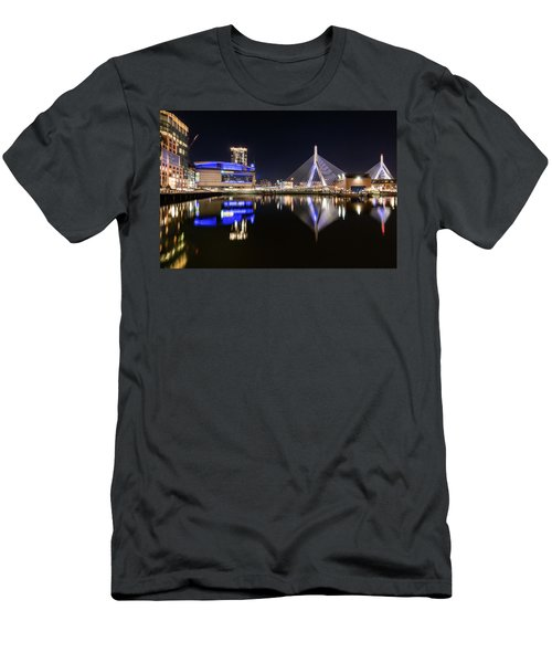Td Garden And The Zakim Bridge At Night Men's T-Shirt (Athletic Fit)