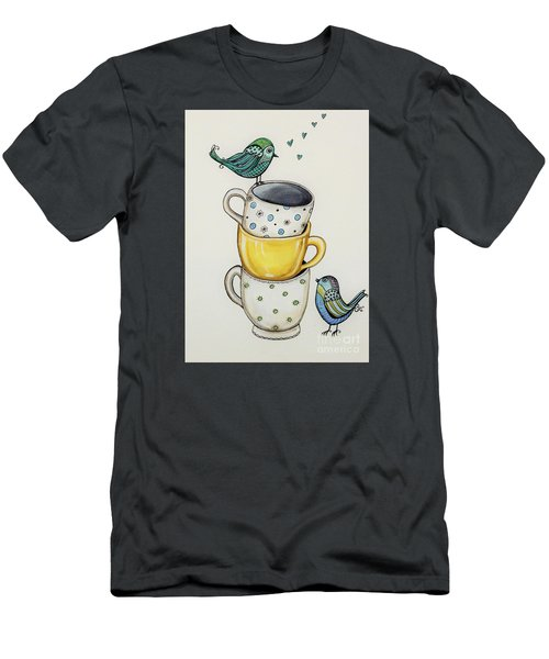 Tea Time Friends Men's T-Shirt (Slim Fit) by Elizabeth Robinette Tyndall