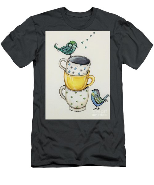 Tea Time Friends Men's T-Shirt (Athletic Fit)