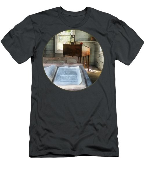 Teacher - One Room Schoolhouse With Book Men's T-Shirt (Athletic Fit)